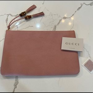 Gucci Bamboo Tassels Leather Clutch